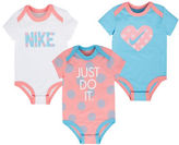 Nike Three-Pack Printed Bodysuit Set