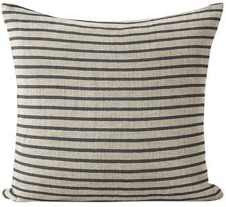 Aura Home Heirloom Stripe Cushion in Charcoal Grey Cushion-50x50cm