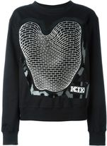 Kokon To Zai brick print sweatshirt - women - Cotton - M