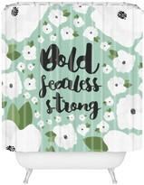 Deny Designs Allyson Johnson Bold Floral Mint Shower Curtain