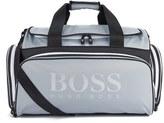 Boss Green Glint Holdall Bag Silver