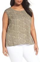 Sejour Plus Size Women's V-Neck Back Blouse