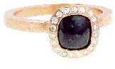 Todd Reed Square Black Diamond Solitaire - Rose Gold