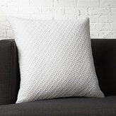 "CB2 20"" Matelasse White Pillow With Feather-Down Insert"