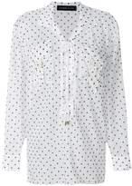 Alexandre Vauthier polka dot lace-up blouse