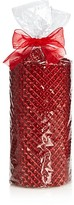 Bloomingdale's Large Red Glitter Candle