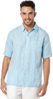 Cubavera Short Sleeve 100% Linen Chest Pocket With Tucks