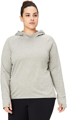 Core Products Amazon Brand - Core 10 Women's Plus Size Be Warm Thermal Fitted Run Hoodie (XS-XL Plus Size 1X-3X)