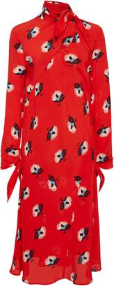 Etro Modlin Floral Silk Midi Dress
