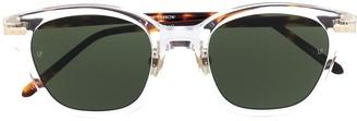 Linda Farrow Patterned Square Sunglasses