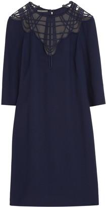 Alberta Ferretti Embroidered Crepe Dress