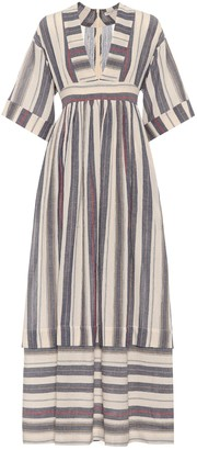 Three Graces London Ferrers striped cotton dress