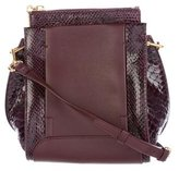 Sonia Rykiel Python-Trimmed Leather Bag