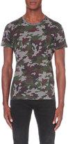 Saint Laurent Camouflage-print Cotton-jersey T-shirt