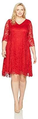 Junarose Women's Plus Size Emma Three Quarter Sleeve Dress