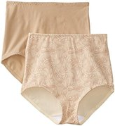 Bali Women's Smoothers Shapewear Cotton Brief with Light Control (Pack of 2)