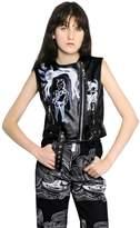 Claire Barrow Sleeveless Leather Moto Vest
