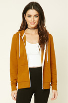 Forever 21 FOREVER 21+ Classic Zip-Up Hoodie