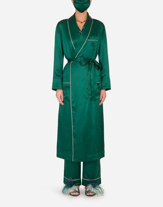 Dolce & Gabbana Silk Robe With Matching Face Mask