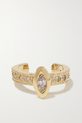 Jacquie Aiche 14-karat Gold Diamond Ear Cuff - one size
