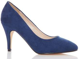 Quiz Navy Faux Suede Almond Toe Courts