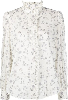 See by Chloe Floral-Print Cotton Shirt