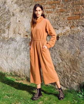 Beaumont Organic AW20 - Tinley Organic Cotton Jumpsuit In Tan - Tan / Extra Small