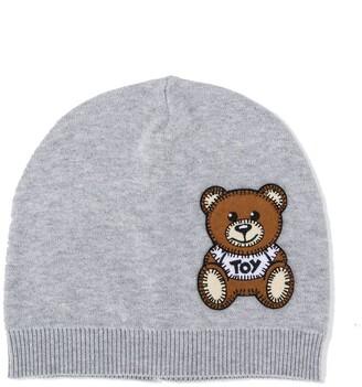 MOSCHINO BAMBINO Applique Bear Beanie Hat
