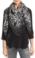 Alexander McQueen Women's Eaten Way Leopard Skull Silk Scarf