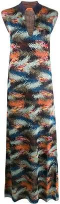 Missoni zigzag-knit sleeveless maxi-dress