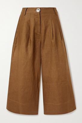 Nicholas Varca Linen Wide-leg Pants - Brown