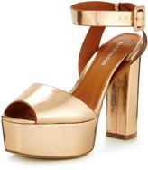 Glamorous Metallic Platform Sandal
