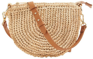 French Connection Summer Straw Cross Body Bag