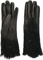 Ermanno Scervino lace insert gloves