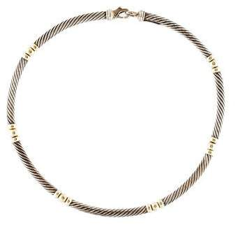 David Yurman Two-Tone Hampton Cable Necklace