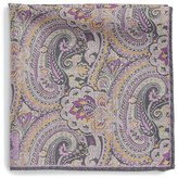 Robert Talbott Men's Paisley Floral Wool Pocket Square