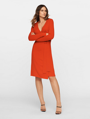 Diane von Furstenberg New Linda Wool-Cashmere Wrap Dress