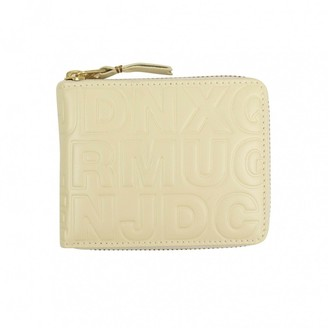 Comme des Garcons White Leather Wallets