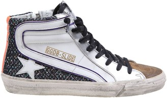 Golden Goose Slide In Leather, Suede And Net