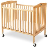 L.A. Baby Little Wood Portable Folding Crib by