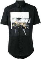 Les Hommes shortsleeved printed shirt