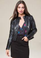 Bebe Faux Leather Moto Jacket