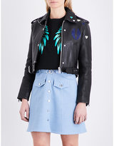 Maje Bicoeur Leather Jacket