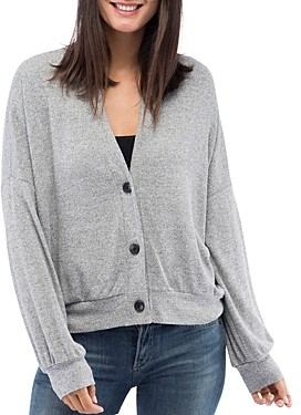 Bobeau B Collection by Nia V-Neck Button Front Cardigan