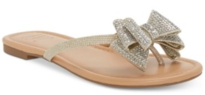 INC International Concepts Inc Women's Mabae Bow Flat Sandals, Created for Macy's Women's Shoes