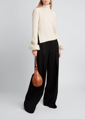 J.W.Anderson Bubble Cuff Knit Turtleneck Sweater