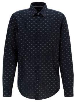 BOSS Regular-fit shirt in Italian cotton with exclusive pattern