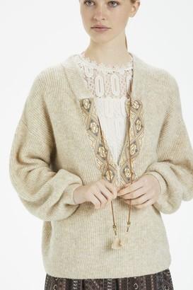 Cream Lara Knit Pullover - Oat / XS