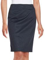 Tommy Hilfiger Chambray Knit Pencil Skirt