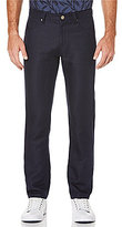 Perry Ellis Slim-Fit Slub 5-Pocket Pants